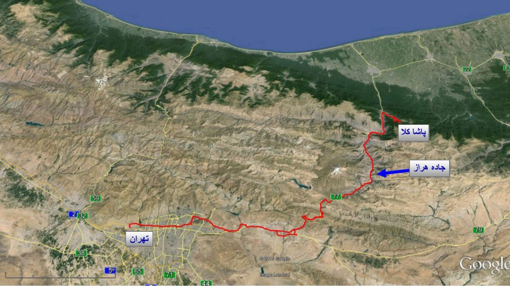 ۱۶۳ Pashakola offroad - Autumn 1393 2014 GPS01 Track