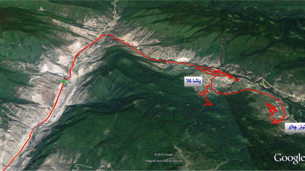 ۱۶۳ Pashakola offroad - Autumn 1393 2014 GPS02 Track