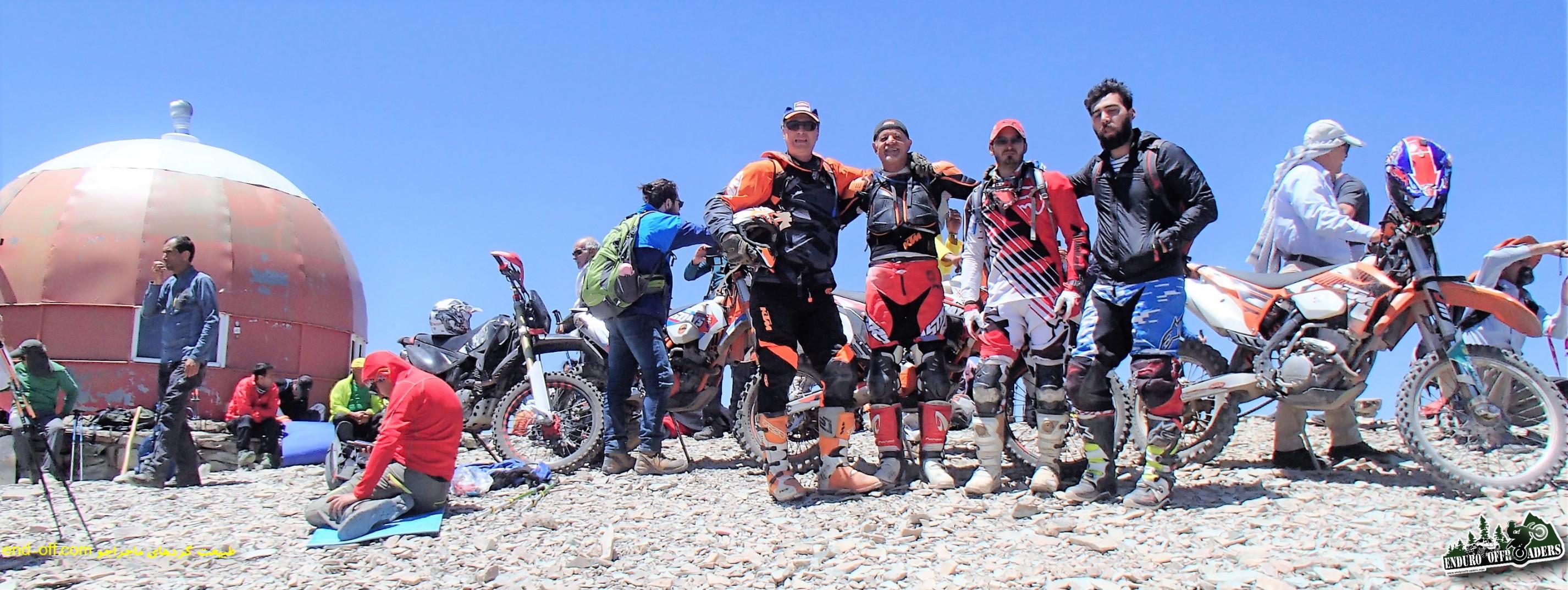 چهارمین صعود به قله توچال با موتور – تیرماه ۱۳۹۶