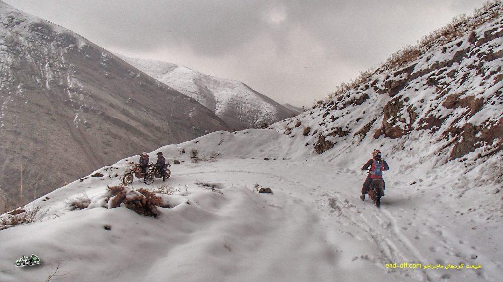 آفرود با موتور در برف، ارتفاعات وردیج و واریش – آذر ۱۳۹۸