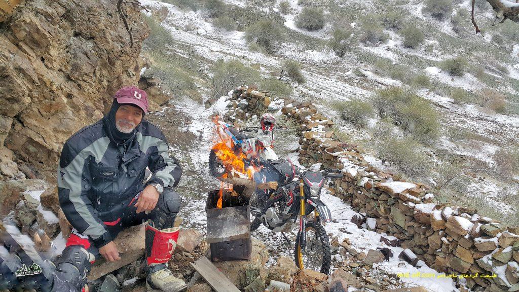 آفرود برفی لذت بخش با موتور در ارتفاعات وردیج – دیماه ۱۳۹۸