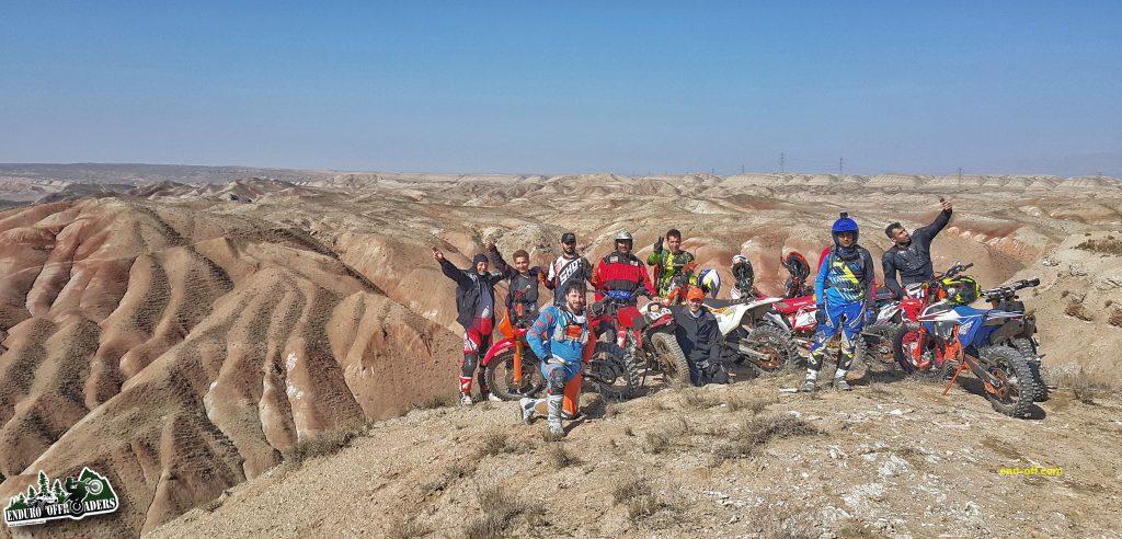 آفرود در کوههای رنگی نصرت آباد کرج – بهمن ۱۳۹۸