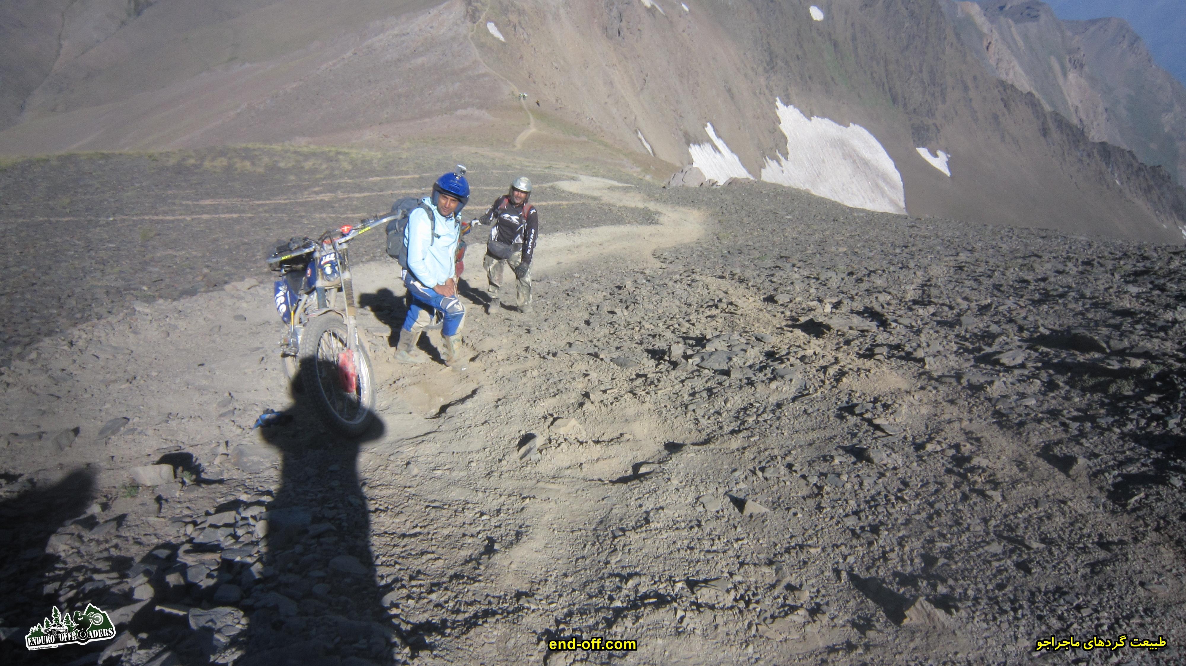 حامد کسمایی - صعود به قله سیالان با موتور برای اولین بار در ایران - تابستان 1399