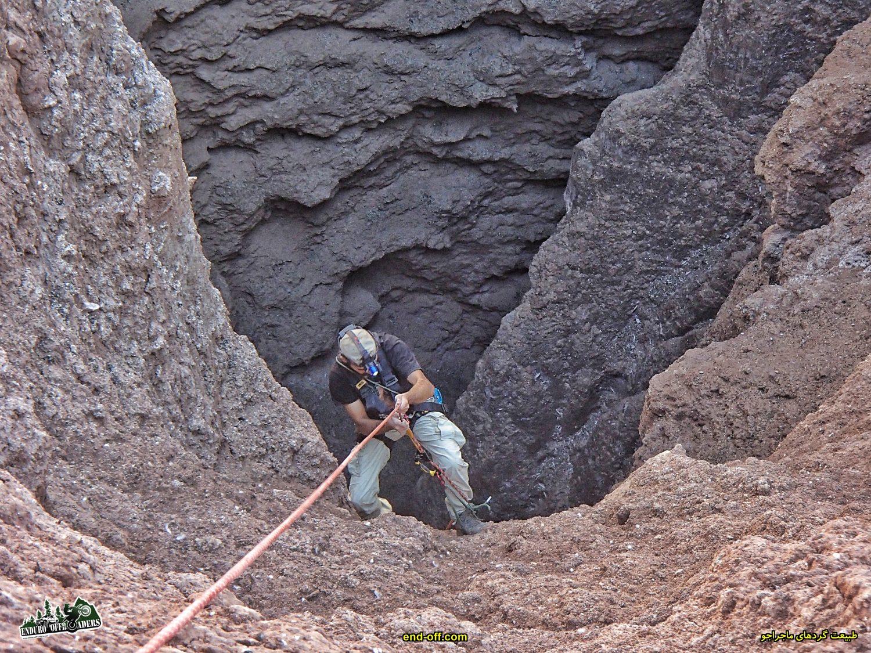 غار چاه دیو و موتورسواری در منطقه نصرت آباد کرج – پاییز 1399