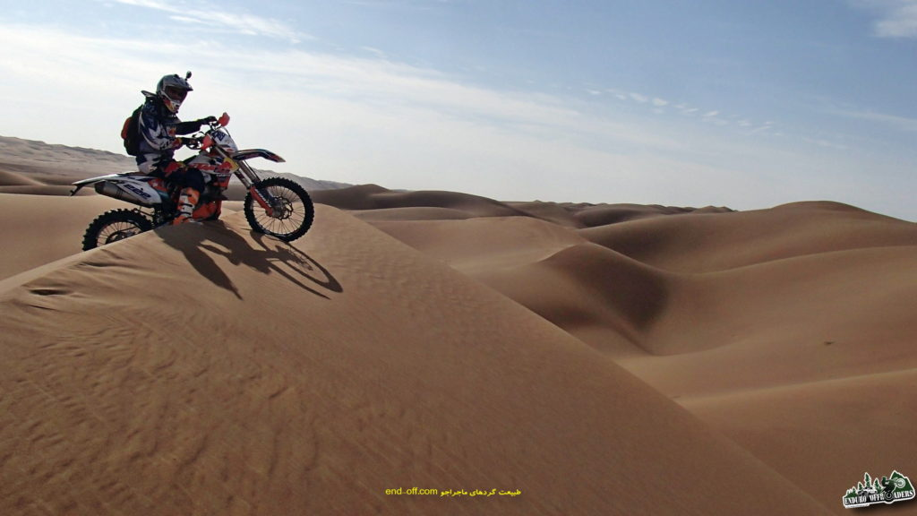 موتورسواری لذت بخش در کویر ریگ جن – پاییز ۱۳۹۵