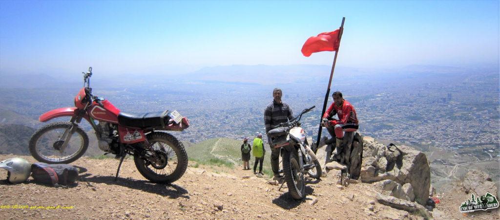صعود به قله چین کلاغ با موتور – خرداد ۱۳۹۶